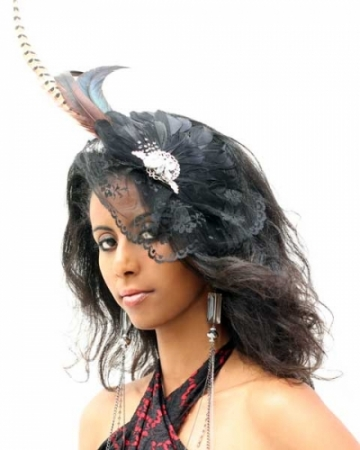Fascinator-pheasant-feathers-black-lace