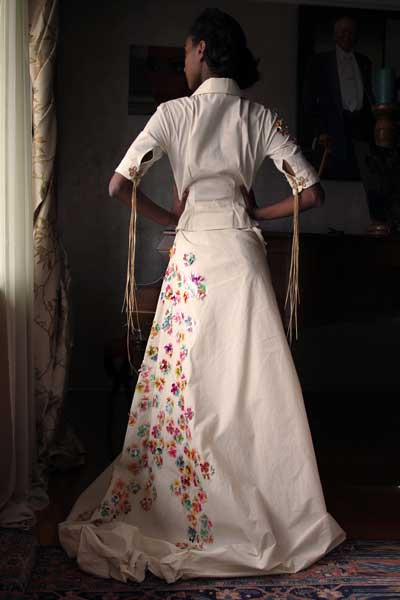 Avante-Garde-looks_Delina Avante-Garde-looks_Delina muslin dress with hand painted pop up flowers