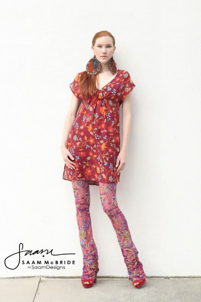 Carmel-in-floral-bouquet leggings