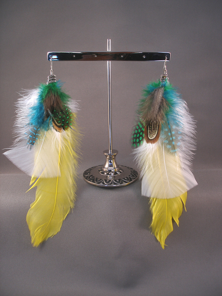 Feather Earrings - SaAmDesigns