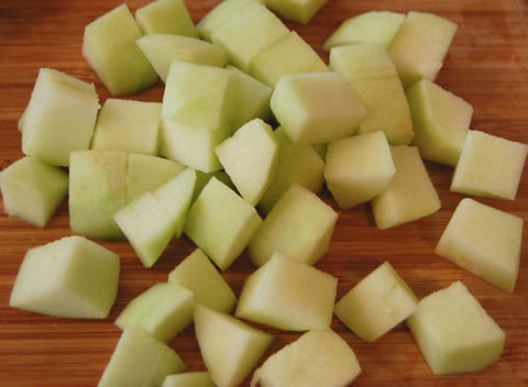 chopped-apples