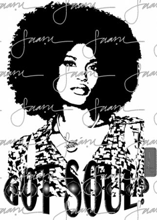 got-soul_afro-girl_blkwht_designer-graphic-tee