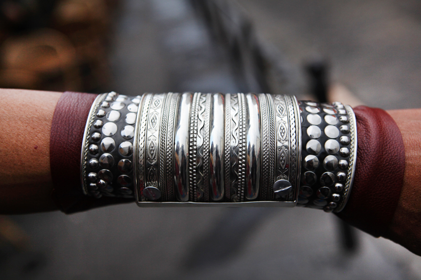 Mertal leather cuff_SMALL