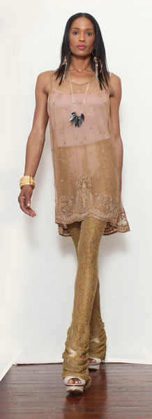 Lace Leggings in Golden Chariot